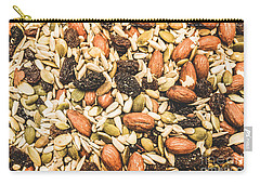 Carry-all Pouch featuring the photograph Trail Mix Background by Jorgo Photography - Wall Art Gallery