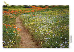 Carry-all Pouch featuring the photograph Trail Of Wildflowers At Diamond Lake In California by Jetson Nguyen