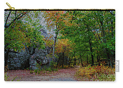 Trail Past Indian Face Rock Carry-all Pouch by Barbara Bowen
