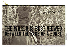 Trail Ride Quote Carry-all Pouch