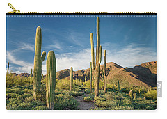 Trail Through Saguaro Carry-all Pouch