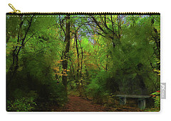 Trailside Bench Carry-all Pouch by Cedric Hampton