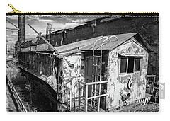 Train 6 In Black And White Carry-all Pouch