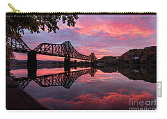 Train Bridge At Sunrise  Carry-all Pouch