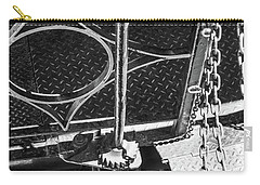 Carry-all Pouch featuring the photograph Train Car Connections by Colleen Coccia