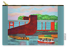 Carry-all Pouch featuring the painting Train Over The New River by Deborah Boyd