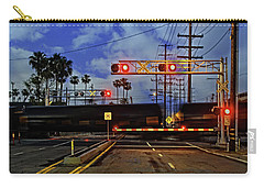 Train Crossing Carry-all Pouch by Timothy Bulone