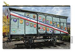 Carry-all Pouch featuring the photograph Train De La Reconnaissance Francaise - Ogden - Utah by Gary Whitton