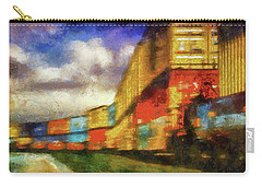 Train Freight Cars Carry-all Pouch by Joseph Hollingsworth