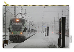 Train In Helsinki Carry-all Pouch by Margaret Brooks