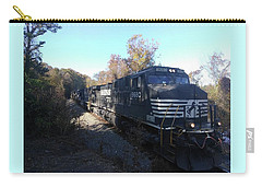 Carry-all Pouch featuring the photograph Train Passes  by Aaron Martens