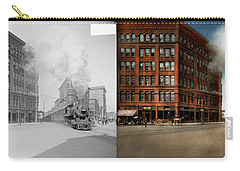 Carry-all Pouch featuring the photograph Train - Respect The Train 1905 - Side By Side by Mike Savad