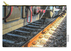 Carry-all Pouch featuring the pyrography Train Road by Yury Bashkin