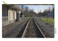 Carry-all Pouch featuring the photograph Train Station View by Aaron Martens