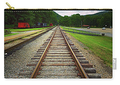 Carry-all Pouch featuring the photograph Train Tracks by Linda Sannuti