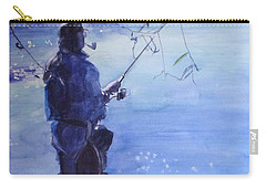 Watercolor Tranquil Fishing Carry-all Pouch