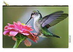 Tranquil Joy Hummingbird Square Carry-all Pouch by Christina Rollo