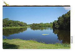 Carry-all Pouch featuring the photograph Tranquil Lake by Gary Wonning