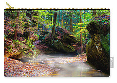Carry-all Pouch featuring the photograph Tranquil Mist by David Morefield