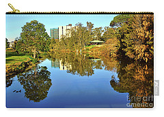 Carry-all Pouch featuring the photograph Tranquil River By Kaye Menner by Kaye Menner