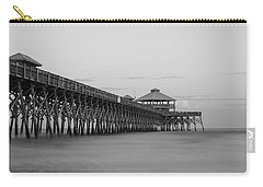 Tranquility At Folly Grayscale Carry-all Pouch