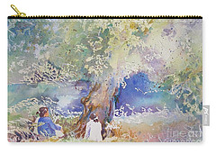 Tranquility At The Brandywine River Carry-all Pouch by Mary Haley-Rocks