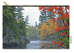 Carry-all Pouch featuring the photograph Autumn Tranquility by Glenn Gordon