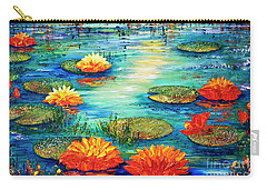Carry-all Pouch featuring the painting  Tranquility V  by Teresa Wegrzyn