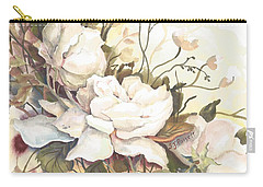 Tranquility Study In White Carry-all Pouch