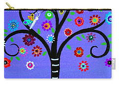 Carry-all Pouch featuring the painting Transformation Tree Of Life by Pristine Cartera Turkus