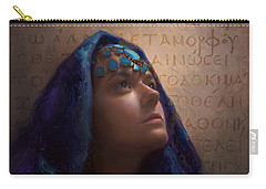 Transformation - Woman With Romans 12 2 Written In Original Greek  Carry-all Pouch