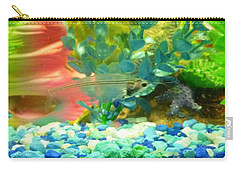 Transparent Catfish Carry-all Pouch by Barbara Yearty