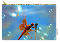 Transparent Red Dragonfly Carry-all Pouch