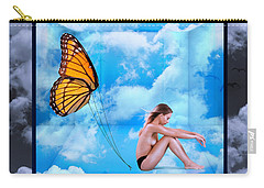 Trapped Butterfly Carry-all Pouch