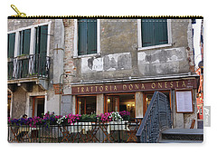 Trattoria Dona Onesta In Venice, Italy Carry-all Pouch
