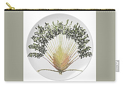 Carry-all Pouch featuring the digital art Travelers Palm Plate by R  Allen Swezey