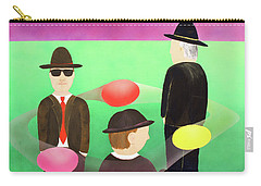 Carry-all Pouch featuring the painting Traveling In The Right Business Circles by Thomas Blood
