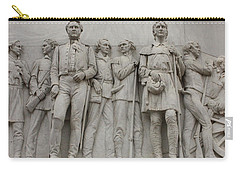 Travis And Crockett On Alamo Monument Carry-all Pouch