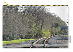 Carry-all Pouch featuring the photograph Trax Bend by Aaron Martens