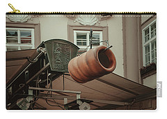Carry-all Pouch featuring the photograph Trdelnik. Prague Architecture by Jenny Rainbow