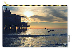 Seagull Pier Sunrise Seascape C1 Carry-all Pouch