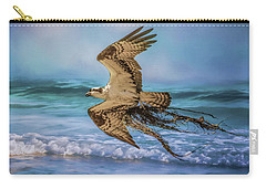 Treasures For The Nest Osprey Art Carry-all Pouch by Jai Johnson