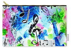 Carry-all Pouch featuring the mixed media Treble Mp by Genevieve Esson