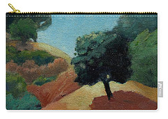 Carry-all Pouch featuring the painting Tree Alone by Gary Coleman