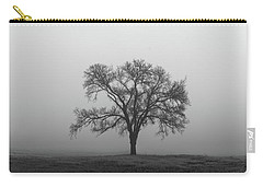 Tree Alone In The Fog Carry-all Pouch