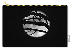 Tree Branch Cover Over The Super Moon Carry-all Pouch by Yumi Johnson