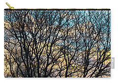 Carry-all Pouch featuring the photograph Tree Branches And Colorful Clouds by James BO Insogna