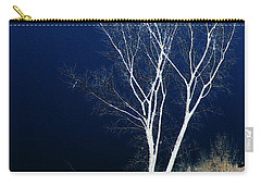 Carry-all Pouch featuring the photograph Tree By Stream by Stuart Turnbull
