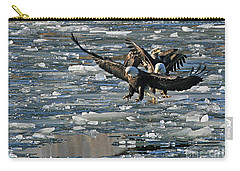 Tree Eagles On Ice Carry-all Pouch