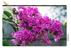 Crepe Myrtle Flower Carry-all Pouch by James Gay